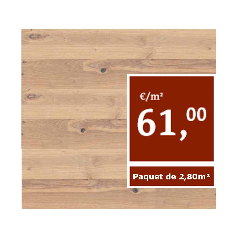 Chêne rouge, flammé, huilé naturel, Lames XXL (Prix/paquets de 2.8m2)