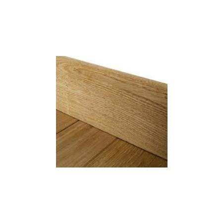 Plinthe chêne massif brut bord droit prix/mL