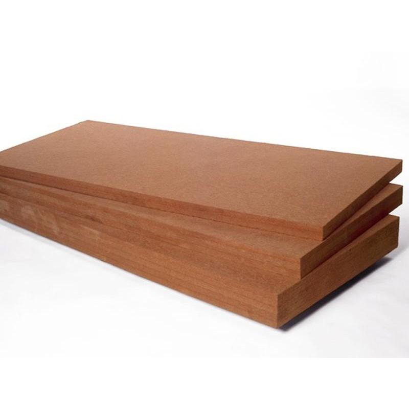 Fibre de bois rigide 140Kg/m3 - Bords droits.Prix/panneau de 0.75m2