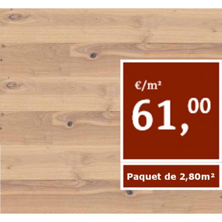 Chêne rouge, Flammé, Huilé naturel, Lames XXL (Prix/paquets de 2,80 m²)
